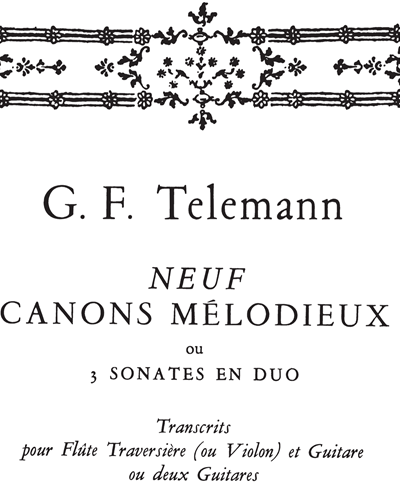Neuf Canons Mélodieux