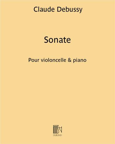 Sonate pour violoncelle & piano