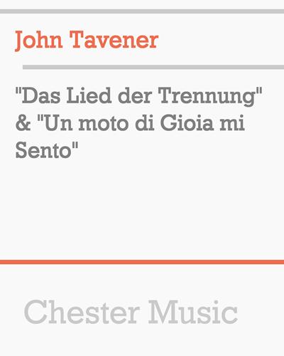 """""""Das Lied der Trennung"""" & """"Un moto di Gioia mi Sento"""""""