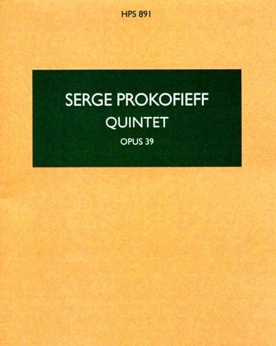 Quintet in G minor, op. 39
