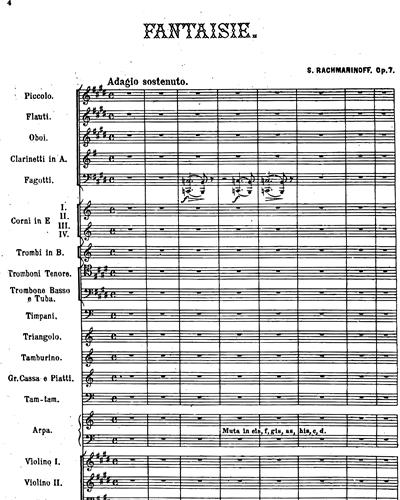 """Fantasie """"Der Fels"""" Op. 7"""