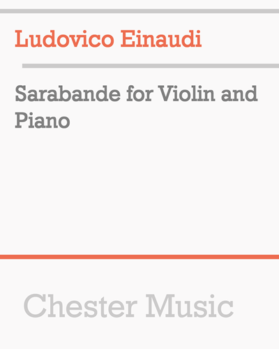Sarabande for Violin and Piano