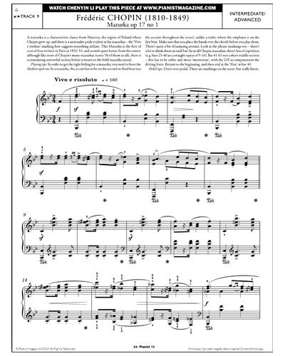 Mazurka Op.17, No.1