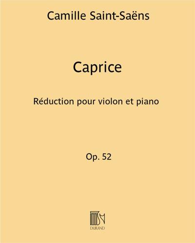 """Caprice Op. 52 (d'après """"L'étude en forme de valse"""")"""