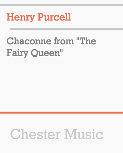 "Chaconne from ""The Fairy Queen"""