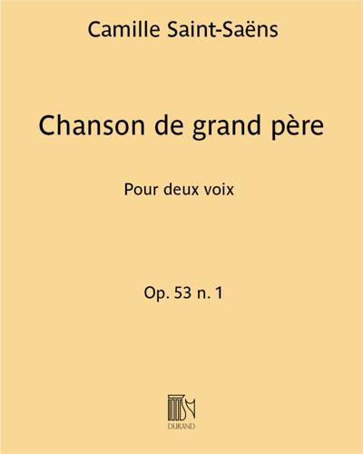 Chanson de grand père Op. 53 n. 1