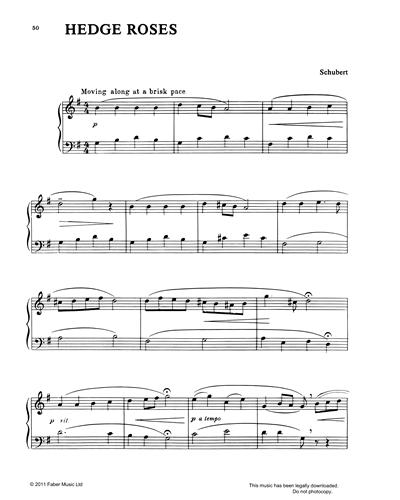 hedge roses sheet music by franz schubert | nkoda  nkoda