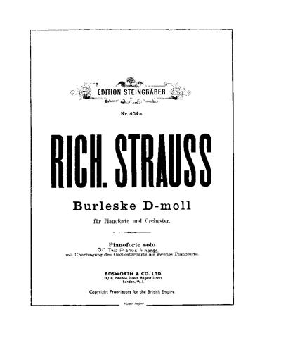 Burleske in D-moll für Pianoforte und Orchester