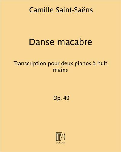 Danse macabre - Transcription pour deux pianos à huit mains