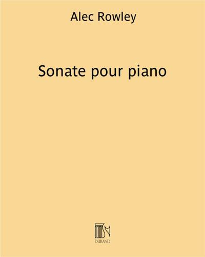 Sonate pour piano