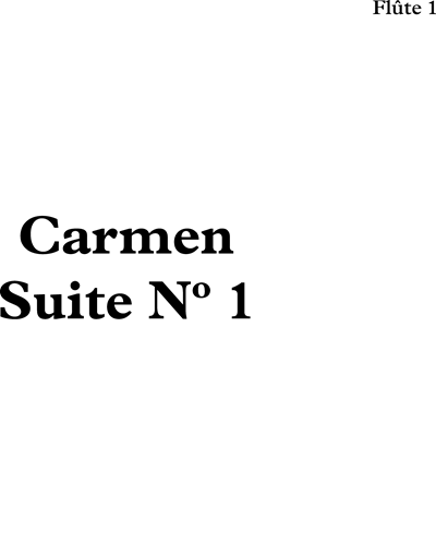 Carmen Suite No.1