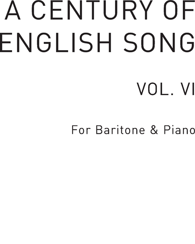 A Century of English Song, Vol. 6