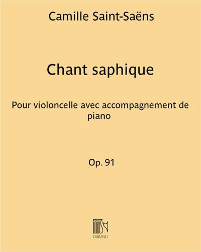 Chant saphique Op. 91
