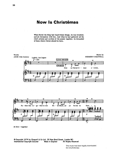 Now Is Christémas (from 'Carols For Today')