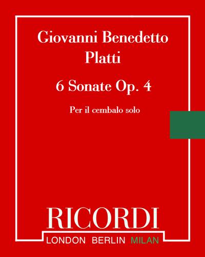 6 Sonate Op. 4
