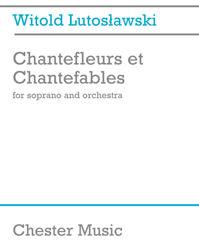 Chantefleurs et Chantefables