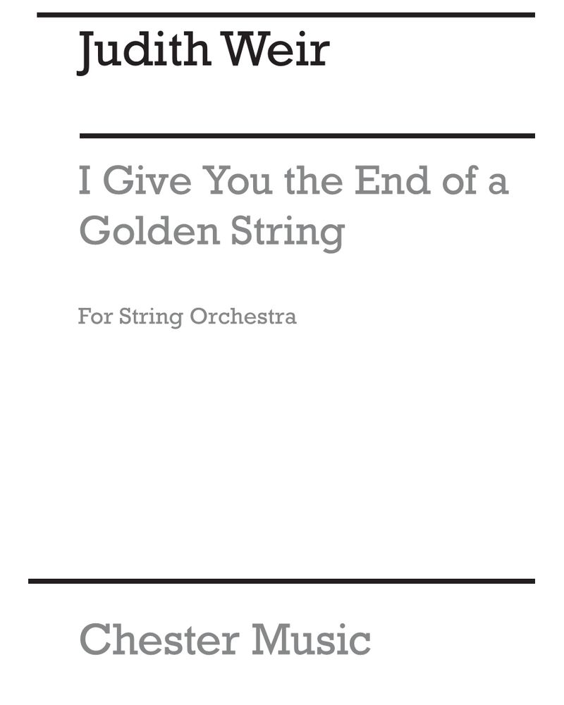 I Give You the End of a Golden String