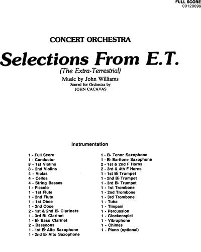 E.T.: Selections