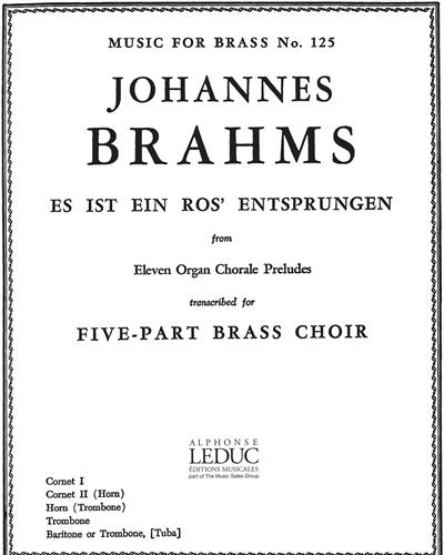 """Es ist ein Ros' entsprungen  (from """"11 Organ Chorale Preludes"""")"""