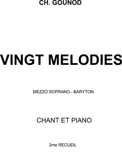 20 Mélodies 2 Recueil