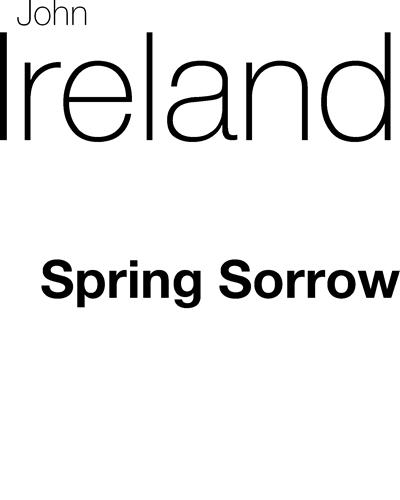 Spring Sorrow (in F)