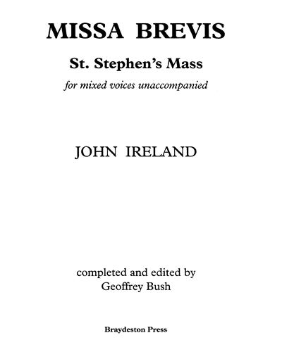 Missa Brevis - St. Stephen's Mass