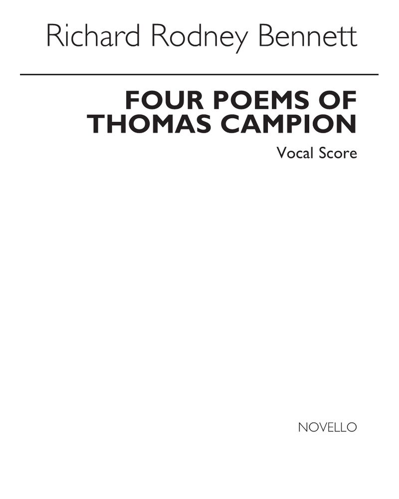 Four Poems of Thomas Campion