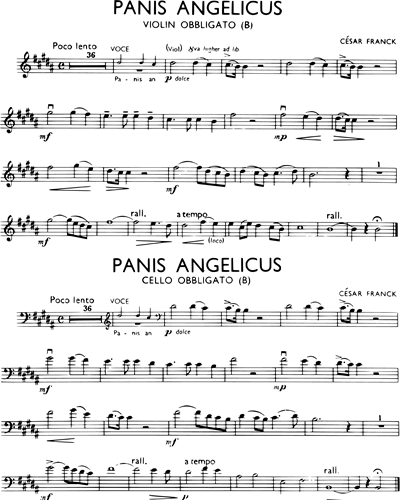 Panis Angelicus (in B)