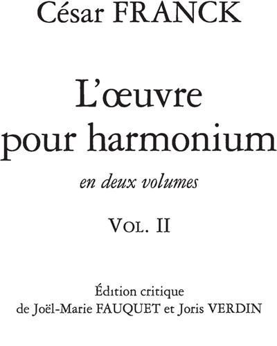 L'Oeuvre pour Harmonium Vol.2