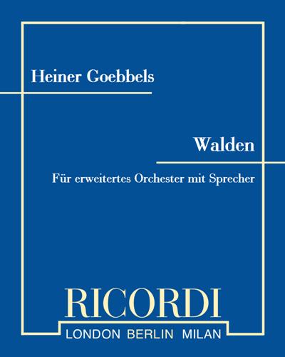 Walden - Für erweitertes Orchester mit Sprecher