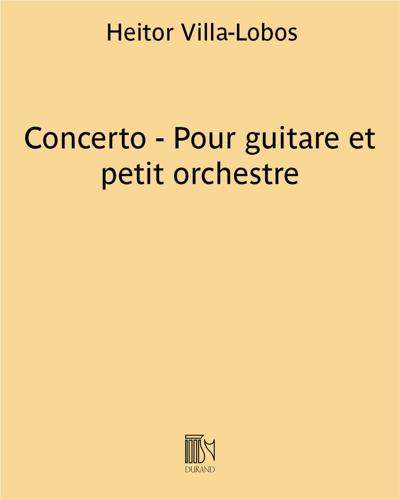 Concerto - Pour guitare et petit orchestre