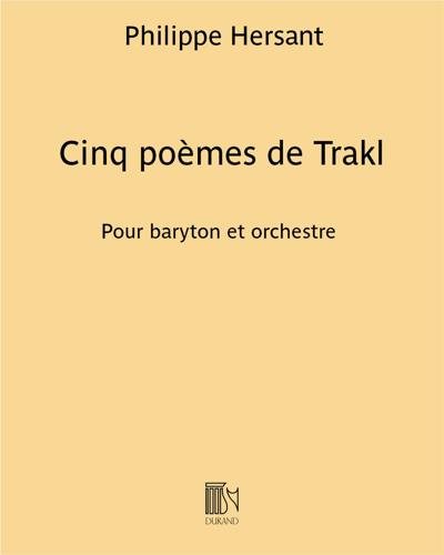Cinq poèmes de Trakl