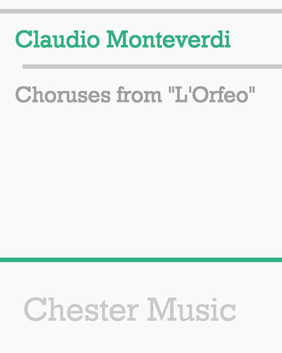"Choruses from ""L'Orfeo"""
