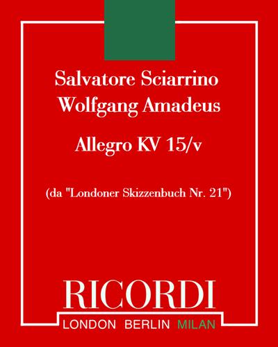 """Allegro KV 15/v (da """"Londoner Skizzenbuch Nr. 21"""")"""