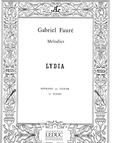 Lydia No. 2 pour Soprano ou Ténor et Piano