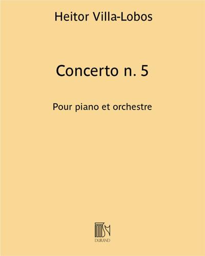 Concerto n. 5 - Pour piano et orchestre