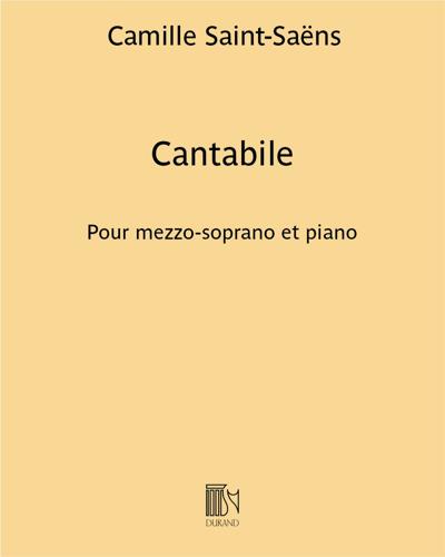 """Cantabile (extrait n. 9 bis de """"Samson and Delilah"""") - Pour mezzo-soprano et piano"""