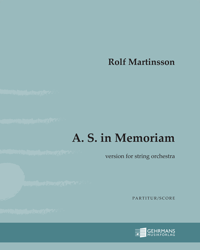 A. S. in Memoriam