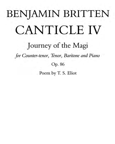 Canticle IV