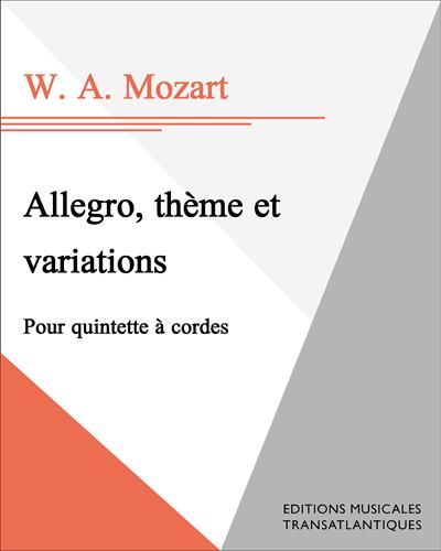 Allegro, thème et variations