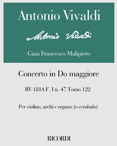 Concerto in Do maggiore RV 181A F. I n. 47 Tomo 122