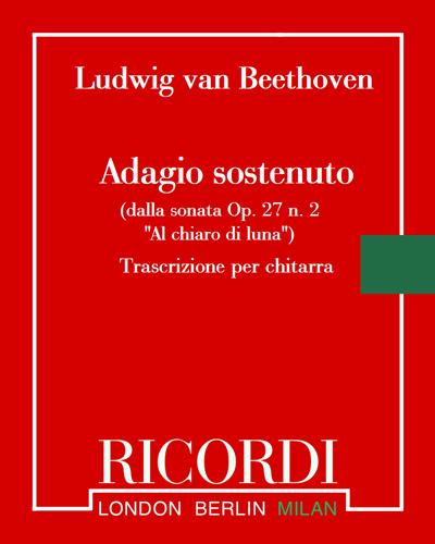 """Adagio sostenuto (dalla sonata Op. 27 n. 2 """"Al chiaro di luna"""") - Trascrizione per chitarra"""