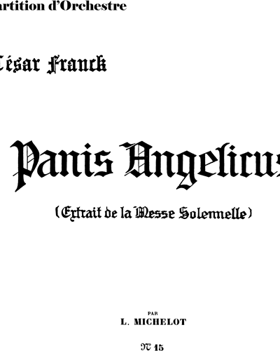Panis Angelicus (Michelot version)