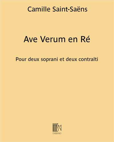 Ave Verum en Ré