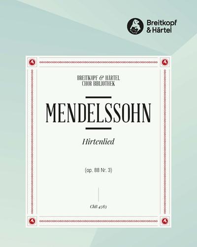 """6 Lieder (op. 88) - 3. Hirtenlied """"O Winter, schlimmer Winter"""" MWV F 12"""