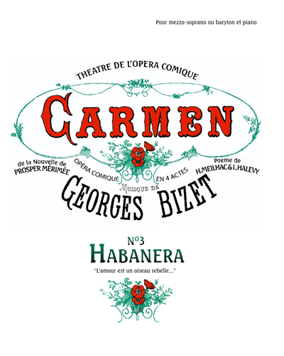 Carmen No. 3 Habanera L'amour Est Un Oiseau Rebelle