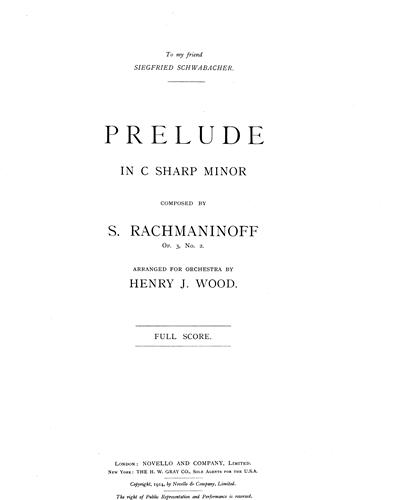 Prelude in C# Minor