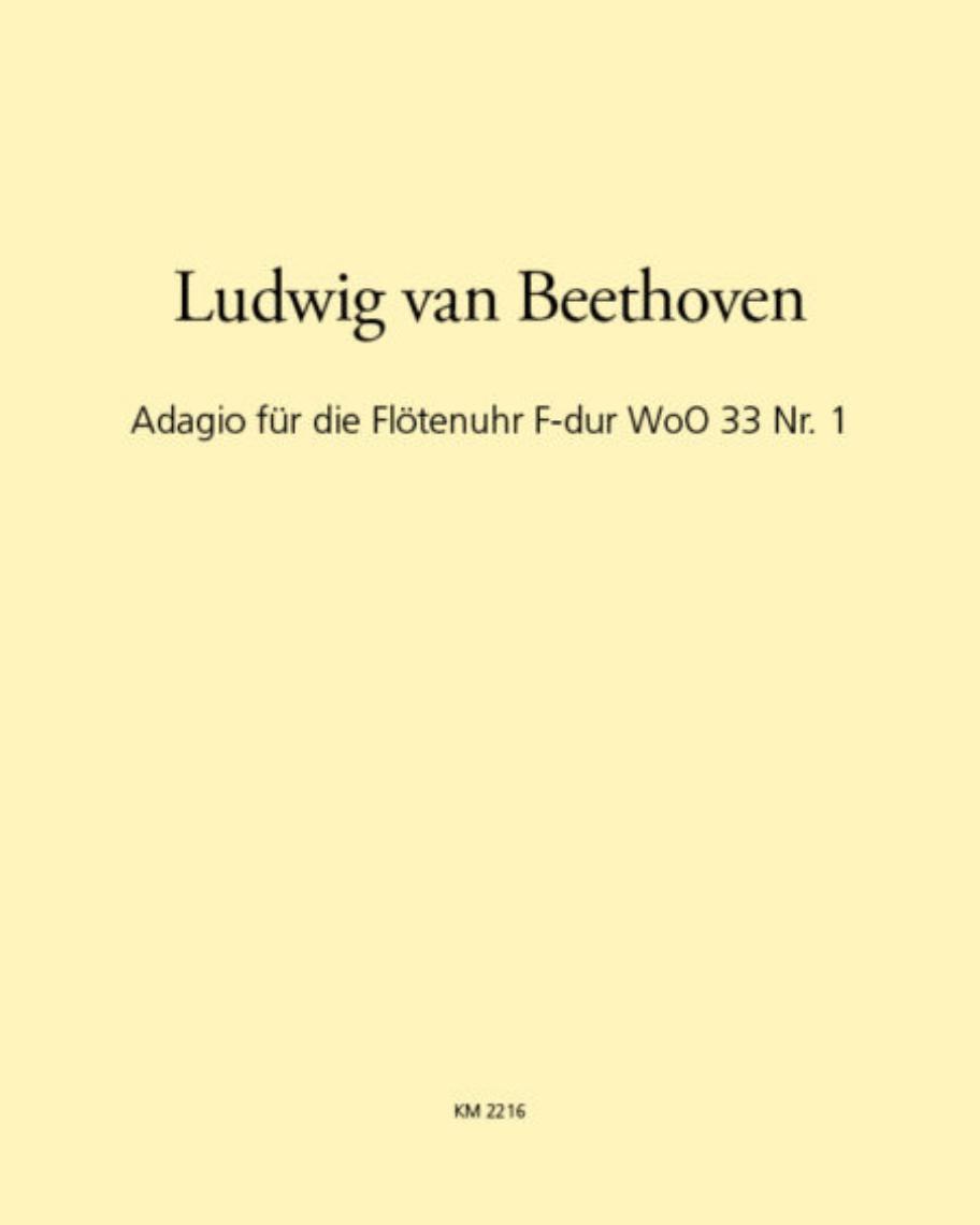 Adagio für die Flötenuhr F-dur WoO 33 Nr. 1