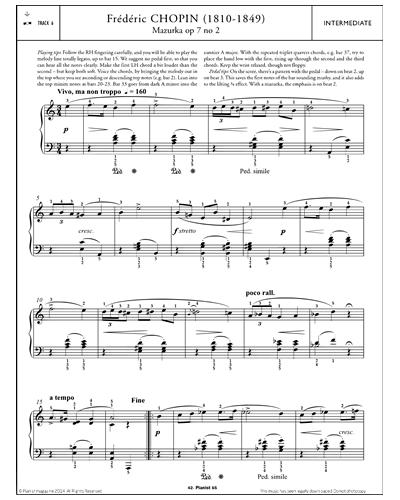 Mazurka in A minor Op.7 No.2