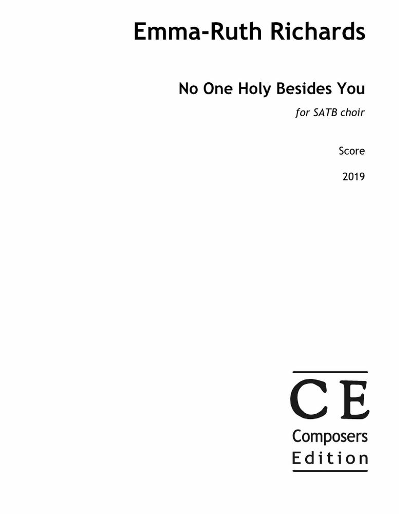No One Holy Besides You